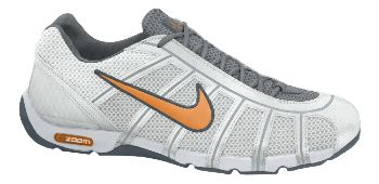 the Ballestra - Nike's new fencing shoe.  Outside profile.