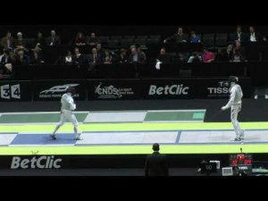 Yuki Ota vs. Lei Sheng in Men's Foil