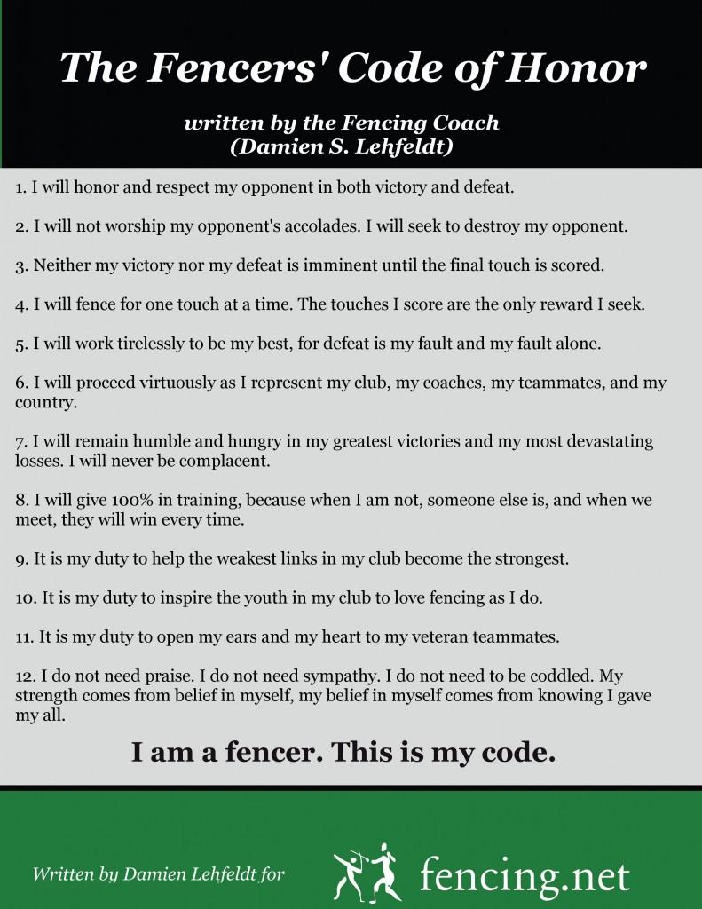 Fencers Code