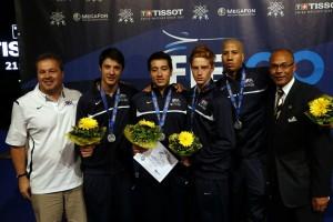 2013 US Men's Foil Team. Photo:S.Timacheff/FencingPhotos.com