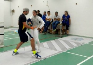 Damien providing some coaching at the Maccabi games.