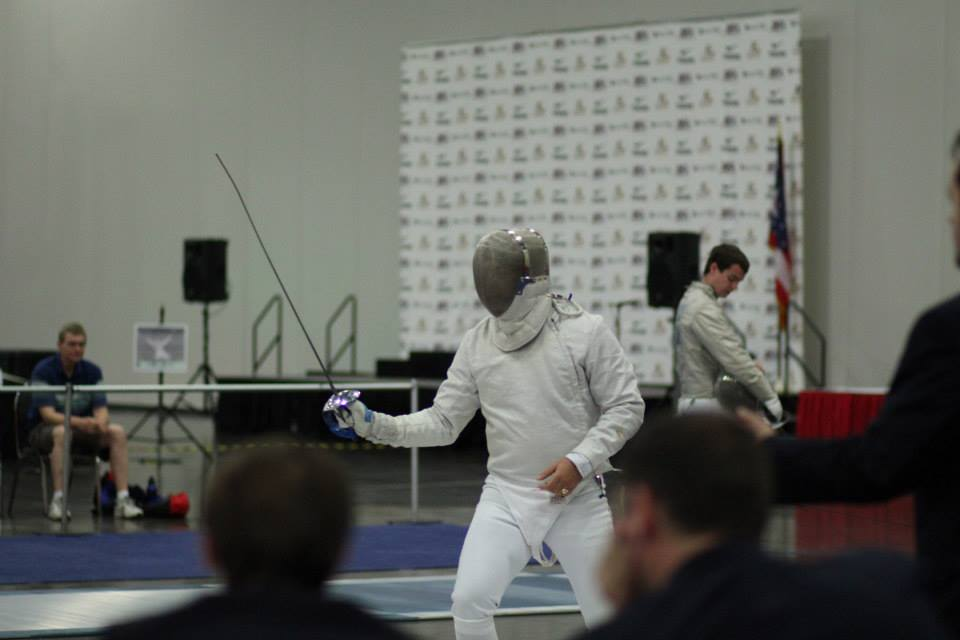 Damien competed in his first saber nationals. Photo credit: Cindi Williams-Moore