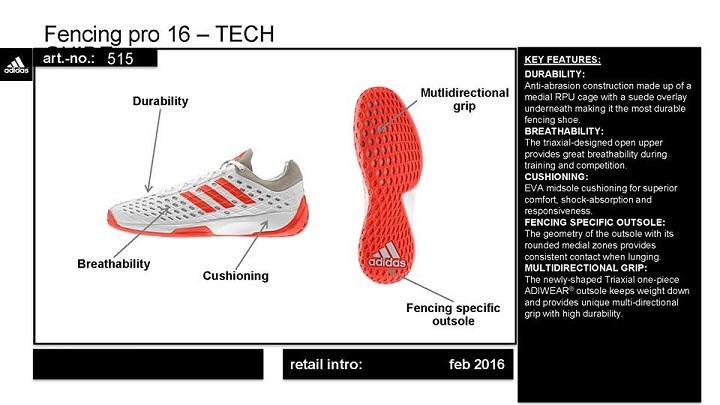 Adidas Fencing Pro 16 shoe