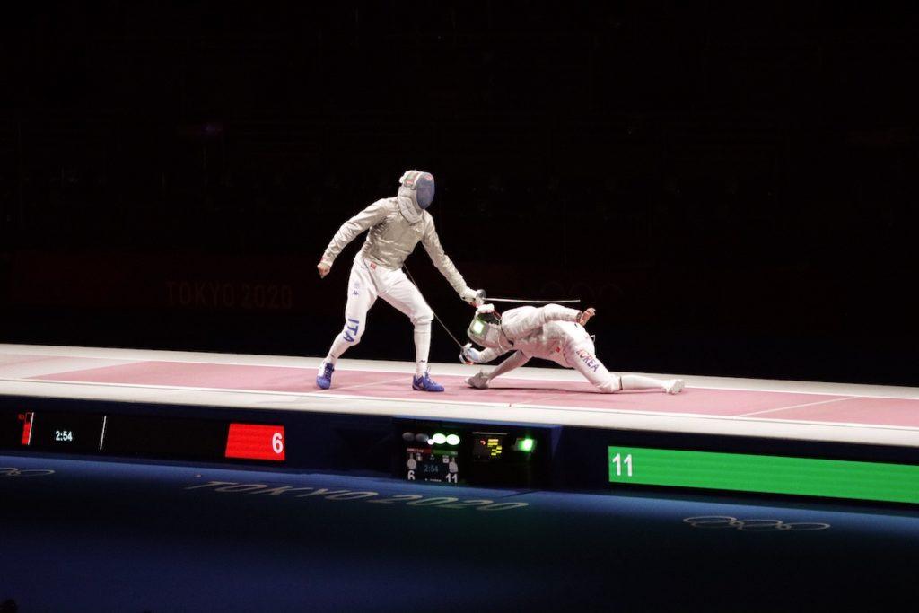 Samele (ITA) vs Kim, J (KOR) - Men's Saber Individual Semifinal, Tokyo 2020